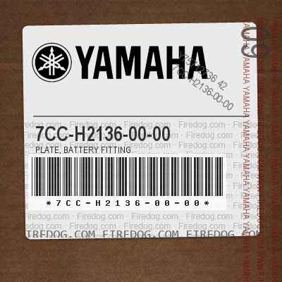 7CC-H2136-00-00 PLATE, BATTERY FITTING