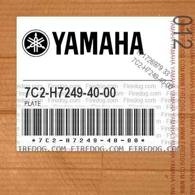 7C2-H7249-40-00 PLATE