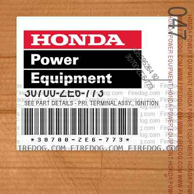 30700-ZE6-773 SEE PART DETAILS - PRI; TERMINAL ASSY., IGNITION