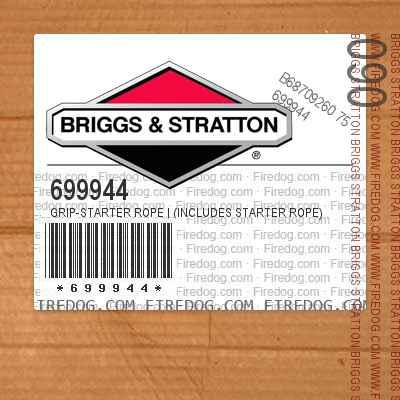 699944 Grip-Starter Rope | (Includes Starter Rope)