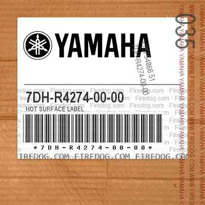 7DH-R4274-00-00 HOT SURFACE LABEL