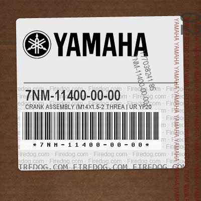 7NM-11400-00-00 CRANK ASSEMBLY (M14X1.5-2 THREA | UR YP20