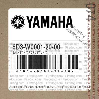 6D3-W0001-20-00 GASKET KIT FOR JET UNIT