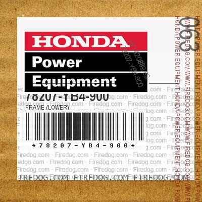 78207-YB4-900 FRAME (LOWER)