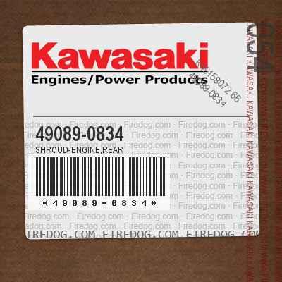 49089-0834 SHROUD-ENGINE,REAR