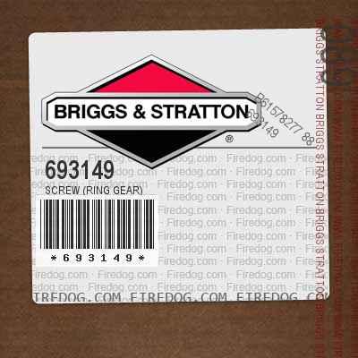 693149 Screw (Ring Gear)