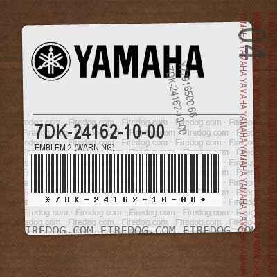 7DK-24162-10-00 EMBLEM 2 (WARNING)
