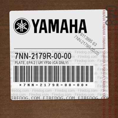 7NN-2179R-00-00 PLATE, EPA 2 | UR YP30 (CA ONLY)