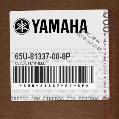 65U-81337-00-8P COVER, FLYWHEEL