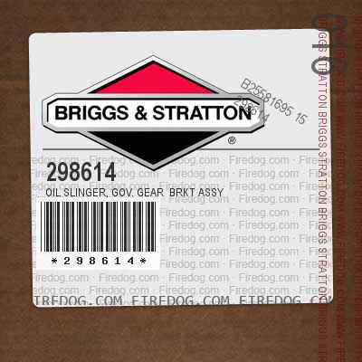 298614 Oil Slinger, Gov. Gear  Brkt Assy