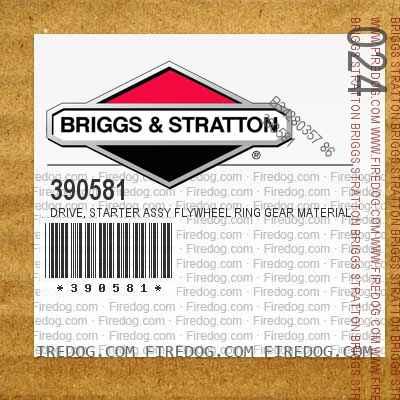 390581 Drive, Starter Assy Flywheel Ring Gear Material Steel