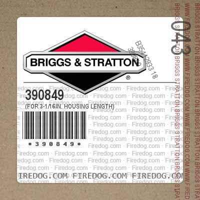 390849 (For 3-1/16in. Housing Length)