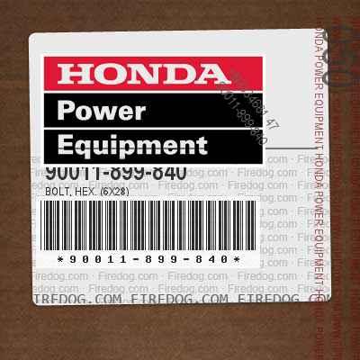 90011-899-840 BOLT, HEX. (6X28)