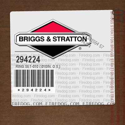 294224 Ring Set-010 (.010in. O.S.)