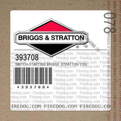 393708 Switch-Starting Briggs  Stratton 110V