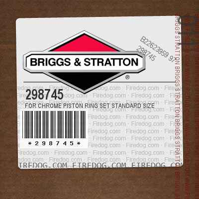 298745 For Chrome Piston Ring Set Standard Size
