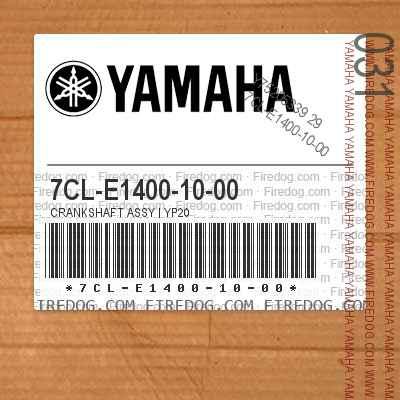 7CL-E1400-10-00 CRANKSHAFT ASSY | YP20