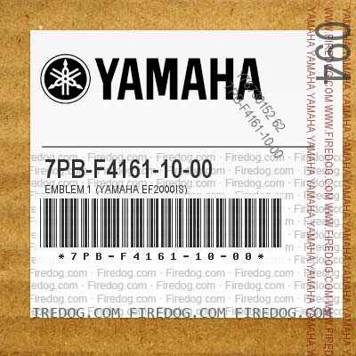 7PB-F4161-10-00 EMBLEM 1 (YAMAHA EF2000IS)