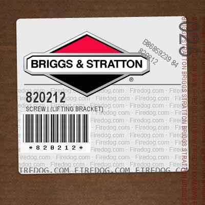 820212 Screw   (Lifting Bracket)