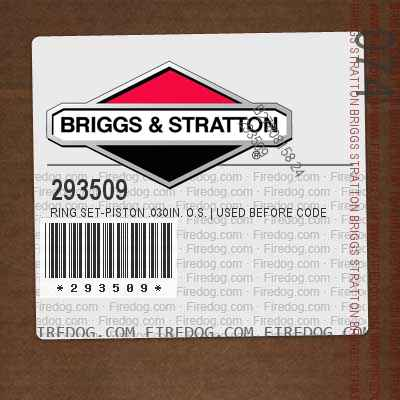 293509 Ring Set-Piston .030in. O.S. | Used Before Code Date 5810060