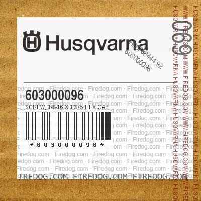 603000096 Screw, 3/8-16 X 3.375 Hex Cap