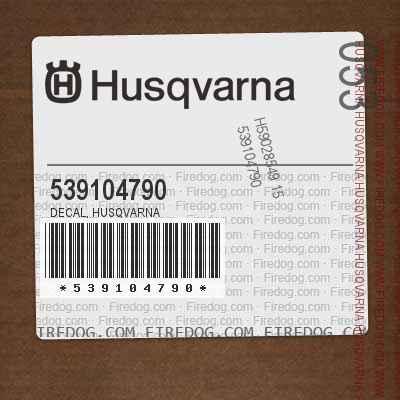 539104790 DECAL, HUSQVARNA