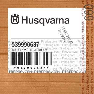 539990637 3/8C X 2 1/2 HEX CAP SCREW