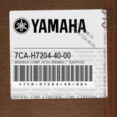 7CA-H7204-40-00 BREAKER COMP. (31SS-200AMS) | * DAERYUK