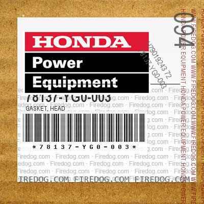 78137-YG0-003 GASKET, HEAD
