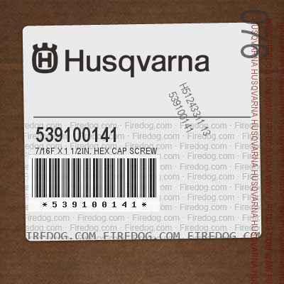 539100141 7/16F X 1 1/2in. HEX CAP SCREW