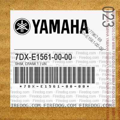 7DX-E1561-00-00 SHIM, CRANK 1 | UN