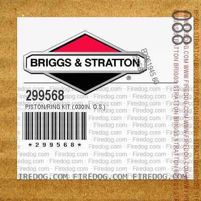 299568 Piston/Ring Kit (.030in. O.S.)