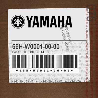 66H-W0001-00-00 GASKET KIT FOR ENGINE UNIT