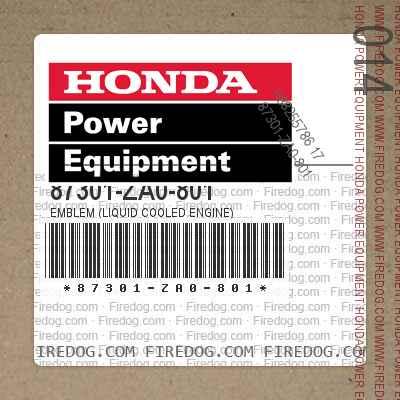 87301-ZA0-801 EMBLEM (LIQUID COOLED ENGINE)