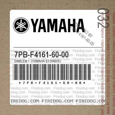 7PB-F4161-60-00 EMBLEM 1 (YAMAHA EF2000IS)