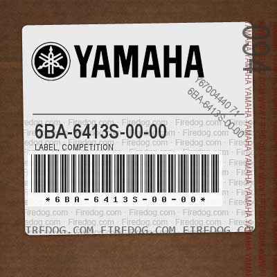 6BA-6413S-00-00 LABEL, COMPETITION