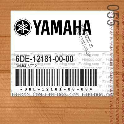 6DE-12181-00-00 CAMSHAFT 2