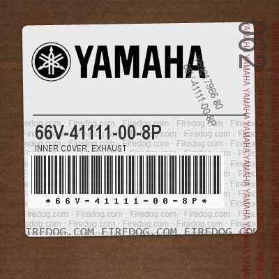 66V-41111-00-8P INNER COVER, EXHAUST