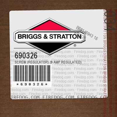 690326 Screw (Regulator) (9 Amp Regulated)