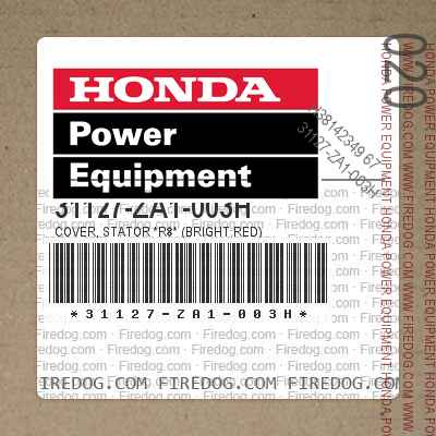 31127-ZA1-003H COVER, STATOR *R8* (BRIGHT RED)