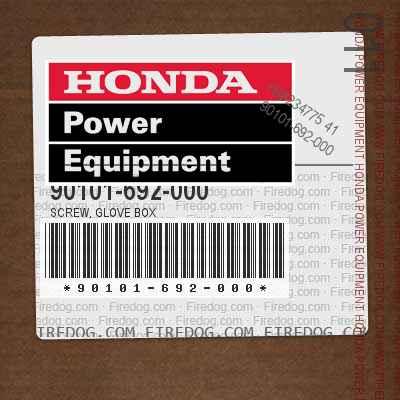 90101-692-000 SCREW, GLOVE BOX