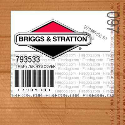 793533 Trim-Blwr Hsg Cover