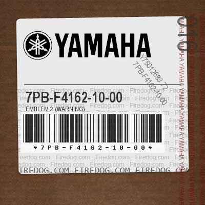 7PB-F4162-10-00 EMBLEM 2 (WARNING)