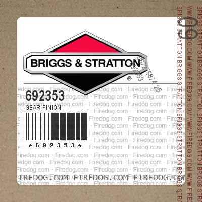 692353 Gear-Pinion