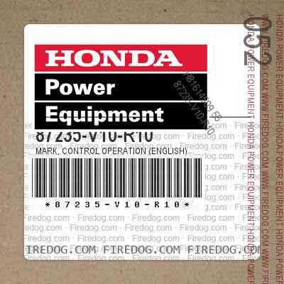 87235-V10-R10 MARK, CONTROL OPERATION (ENGLISH)