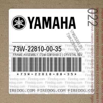 73W-22810-00-35 FRAME ASSEMBLY. (73W-22810-00-2 | CRYSTAL SLV