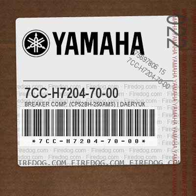 7CC-H7204-70-00 BREAKER COMP. (CP52BH-250AMS) | DAERYUK