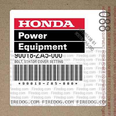 90018-ZA5-000 BOLT, STATOR COVER SETTING
