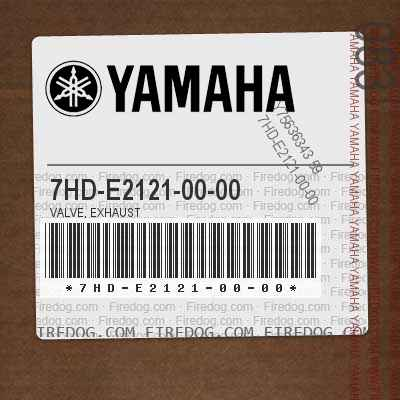 7HD-E2121-00-00 VALVE, EXHAUST